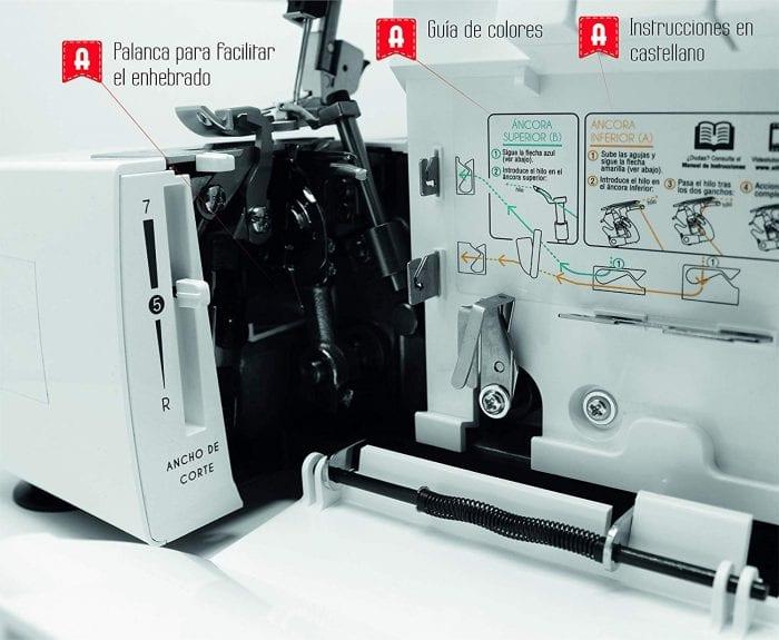 maquina overlock alfa 8707 en oferta